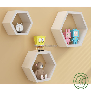 Decorative Wall Floating Honeycomb Shelves For Living Room Or ...