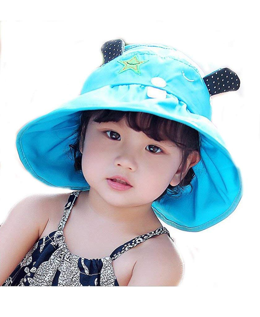 5c2a4850 Get Quotations · Mo-Magic Kid Baby Summer Hat Baby Sun Hat Wide Brim Sun  Protection Hat Open