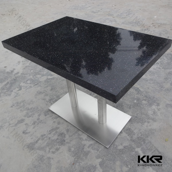 four seater dining table with marble solid surface