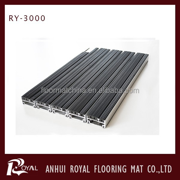 Clear Anodized Aluminum Entrance recessed Floor Mat