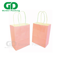 Personalized cheap custom elegant pink gift paper bag for wedding candy with twisted handle