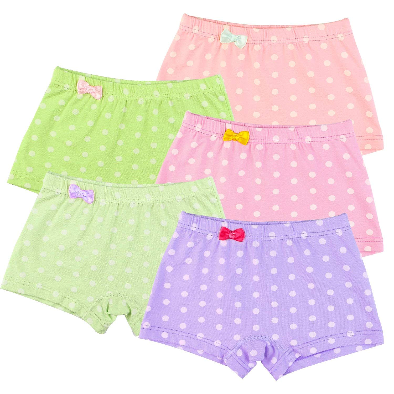 a30794598979 Get Quotations · BOOPH Girls Panties, Kids Little Girls' Boyshort Polka Dot  Hipster Baby Toddler Underwear for