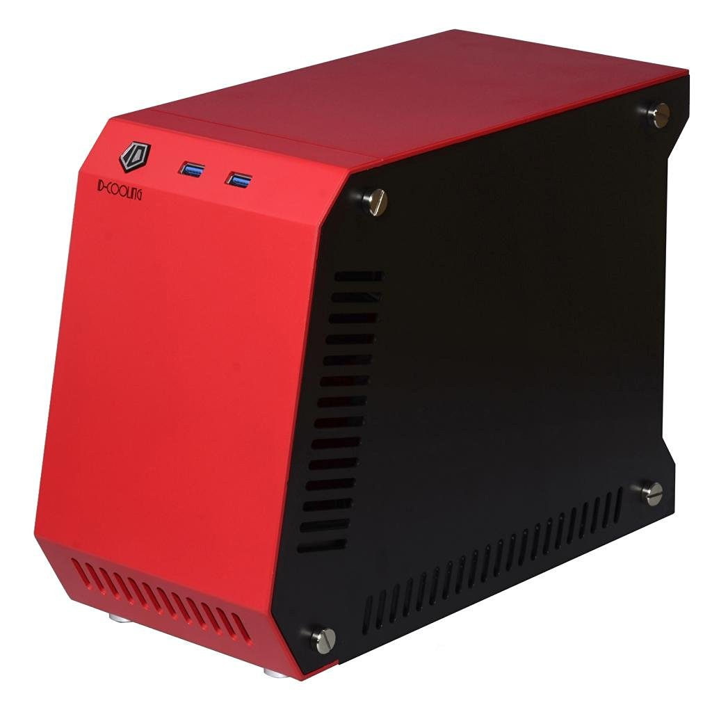 ID-COOLING T60-SFX Mini Gaming Case, , Red+Black Aluminum Case, Mini Case Design with Powerful Hardware Support, Support List: Mini-ITX Motherboard, SFX Power Supply, Dual-slot VGA, Tower CPU Cooler