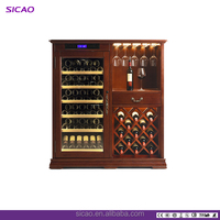 horizontal wine cooler 2018 SICAO Wooden wine cooler with three zones, wine cabinet