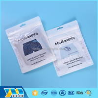 factory supply 2017 trending products sealable plastic bags for clothing with zipper wholesale