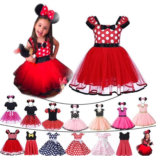 Venta Al Por Mayor Vestidos Minnie Fiesta Niña Compre Online