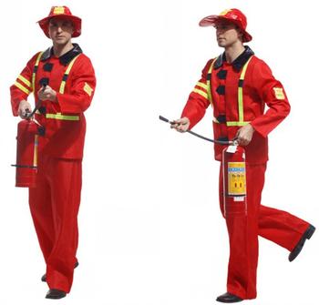 Feuerwehrmann Kostüme Für Erwachsene Spiel Bühne Halloween Kleidung ...