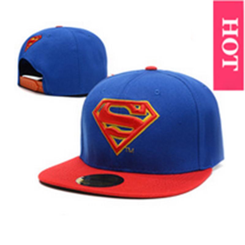 huge discount 6d08f 3a9fa Get Quotations · 2015New Fashion Unisex Flat Hats Hip Hop Snapback Baseball  Caps S Logo Superman Summer Style Snapback