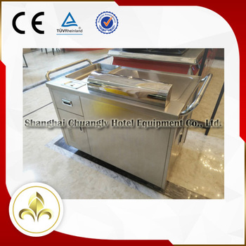 Smokeless Stainless Steel Bbq Outdoor Mobile Gas Teppanyaki Grill ...