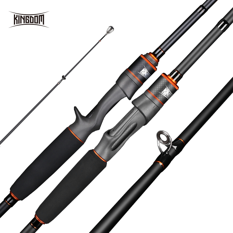 Fortitude Keel 3 Wholesale 2 pieces Carbon Content 99% Carbon Fiber Bass Rod Spinning/Casting Fishing Rod