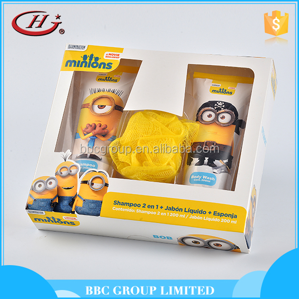 BBC Minons Gift Sets OEM 002 Factory price cheap body care kids bath shower gel