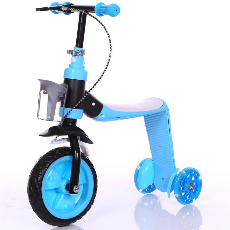 new model 3 in 1 pedal baby tricycle kids kick scooter with seat