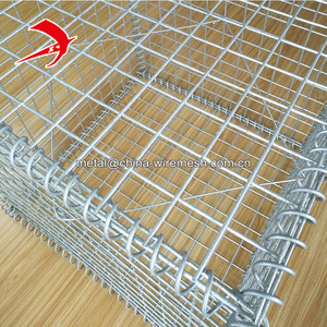 Leading factory galvanized garden fence gabion mesh cage welded gabion box gabion mattress price