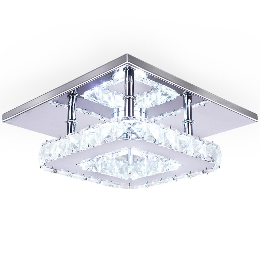 Contemporary Crystal Lamp Ceiling Cheap 15W Luxury Illumination Square Led Ceiling Light Manufacturer Ceiling Light Decorative
