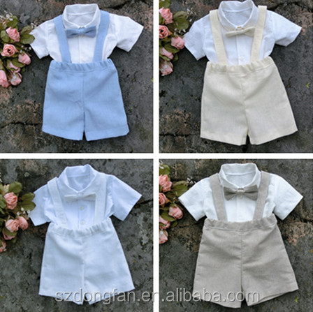 Baby Boy Blothes Wedding Outfit Baptism Suit Suspender Boys Suit