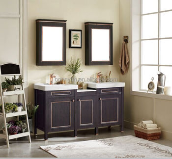 Double Sink Size Bathroom Vanity Cabinet And Mirror Combo With Cupc Certificate For Canada