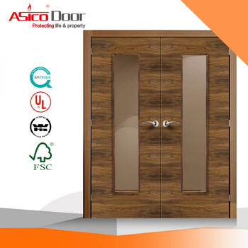 Asico Bk80 Fire Rated Solid Wooden Door With Ul Certification - Buy ...