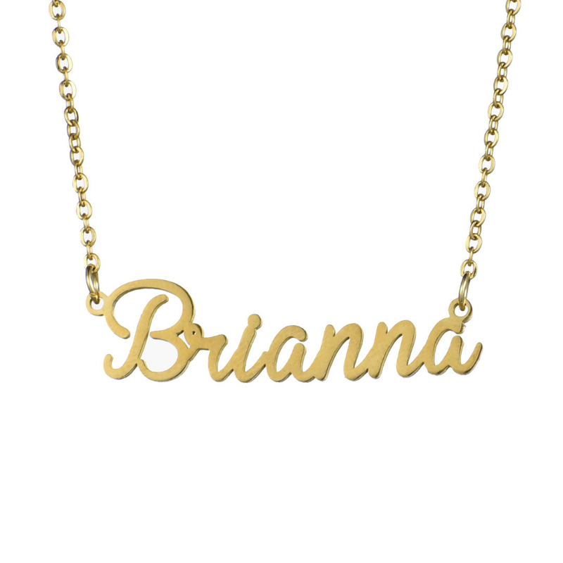Drop Shipping Personalized Custom Necklaces Gold Color Stainless Steel Name Sarah Necklace Gift Nameplate Pendant Necklace