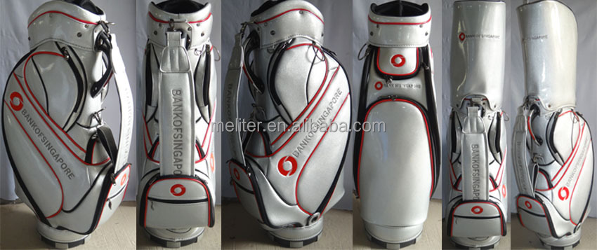 Custom leather golf stand bags staff golf bag