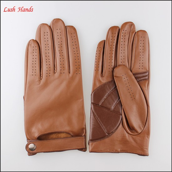 2016 fashion genuine leather gloves driving leather gloves men