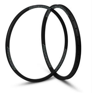 "Cross Country 28mm Width Carbon Fiber 29"" MTB Clincher Rim Hookless Tubeless Compatible Asymmetric rim"