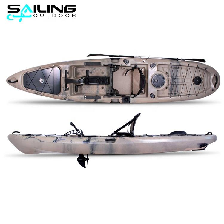 Barco a vela ao ar livre com 13ft barco de água com pedais sistema de motor china atacado de fábrica