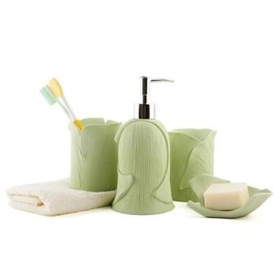 badezimmer accessoires gr n glas wohndesign. Black Bedroom Furniture Sets. Home Design Ideas