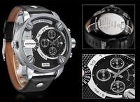 New Arrival Popular Brand Watch, Man Genuine Leather Strap Waterproofed Multifunctional Quartz Watch,wrist watch