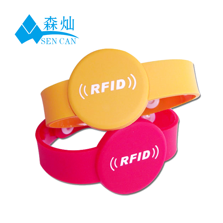 hot sale price hf s50 smart adjustable rfid wristband promotion