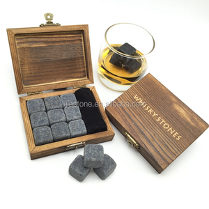 9 Dark Grey Basalt Whiskey Stones Gift Set / Drinking Accessories/ Bar Accessories Beer Ice Rocks