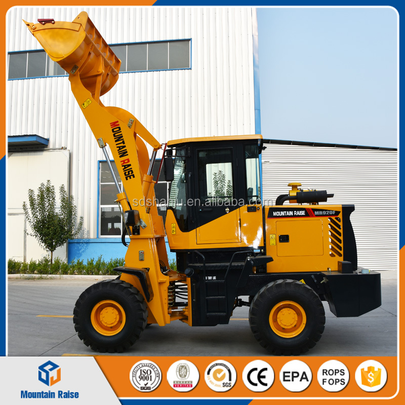 Rops Approved Farm Mini Wheel Loader With Various Purpose Attachments