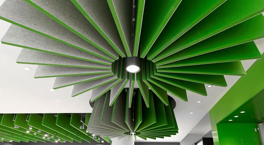 Eco-friendly thermal insulation acoustic baffles