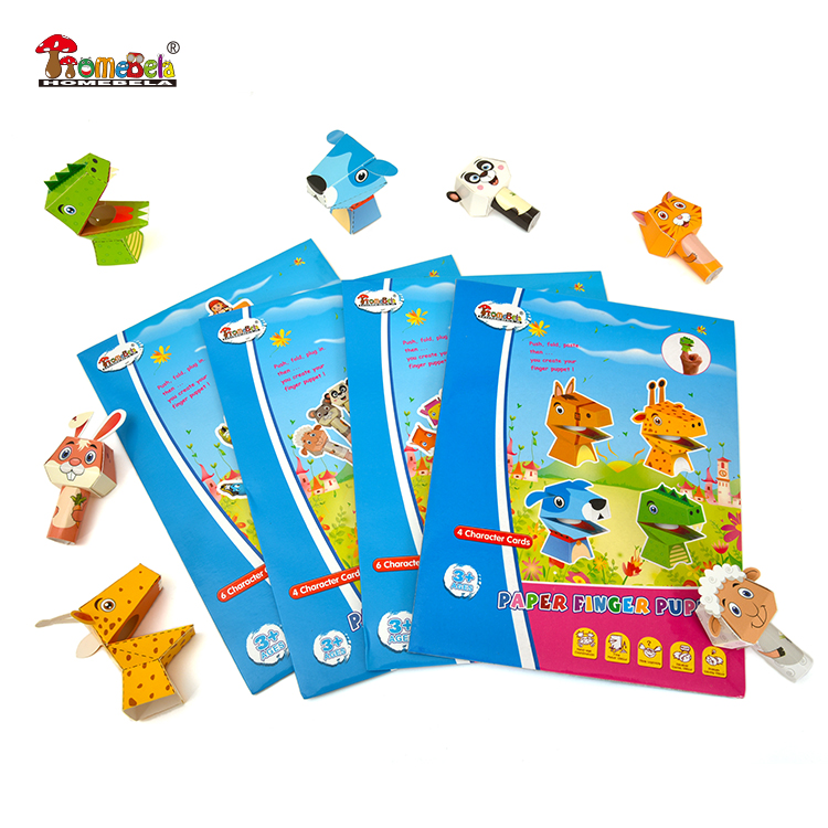 custom making mini animal paper finger puppets