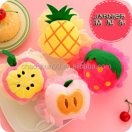 Fruit shape 30g net bath net sponges ball