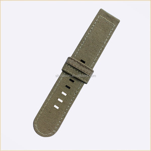 custom printed cotton canvas fabric watch strap wholesale