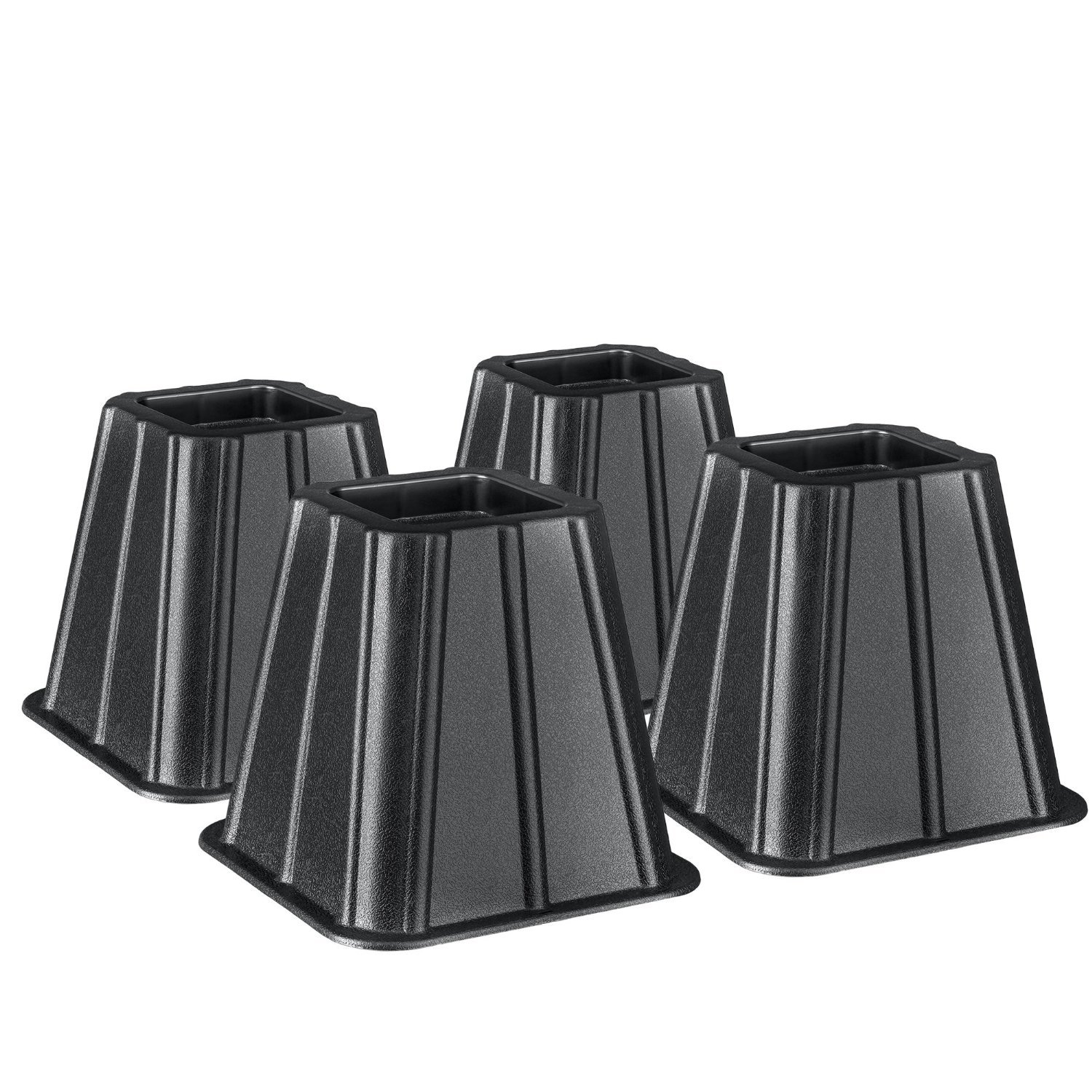 Greenco Super Strong Bed and Furniture Riser, Great for Under Bed Storage - Pack of 4
