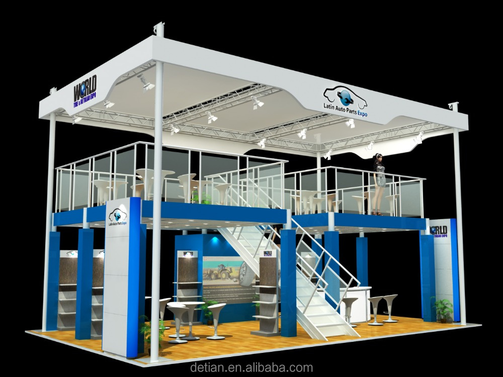 Property Exhibition Booth : Double deck exhibition booth double story tradeshow booth with