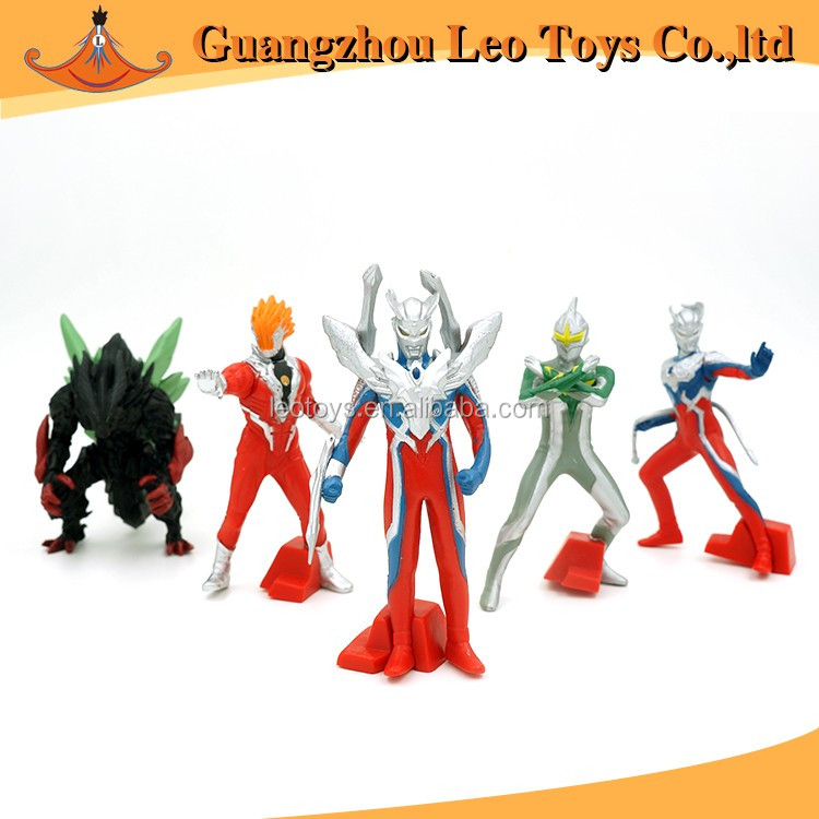 Hot Selling Factory Make A Set Of PVC Custom Superman Ultraman Mini Action Anime Figures