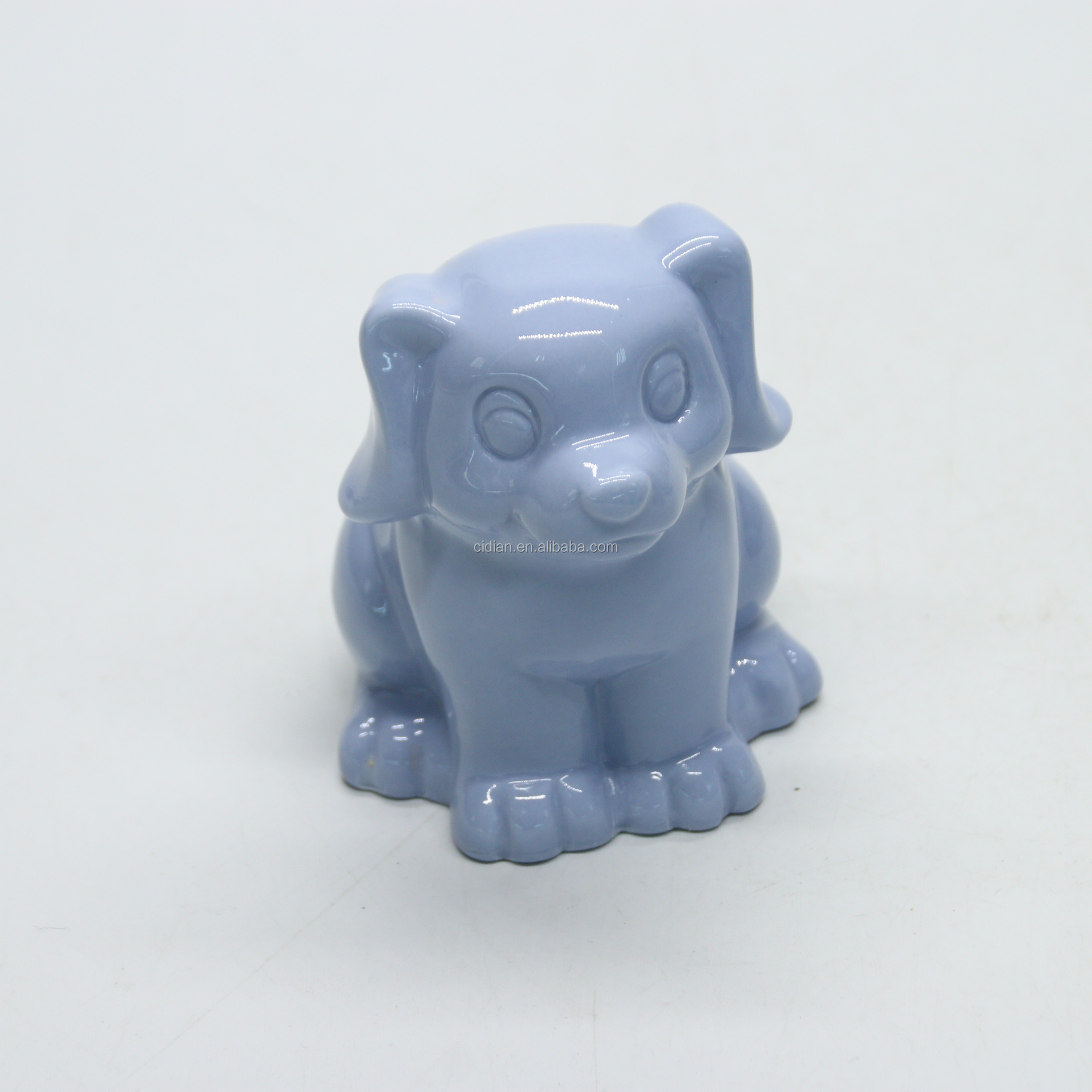 Cute dog shape ceramic money coin box piggy bank