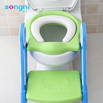 b3dc3204efec7 Foldable Baby Toddler Kids Potty Training Seat Chair Toilet Ladder Seat