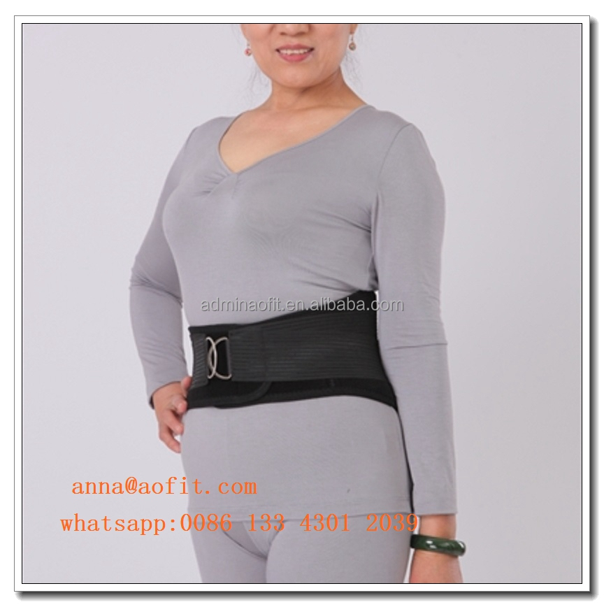 Heated Lumbar Back with Integrated Thermal Waist Brace for Back Pain
