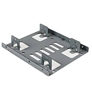 """StarTech.com Dual 2.5"""" to 3.5"""" HDD Bracket for SATA Hard Drives - 2 Drive 2.5"""" to 3.5"""" Bracket for Mounting Bay - 2 x Total Bay - 2 x 2.5"""" Bay - BRACKET25X2"""