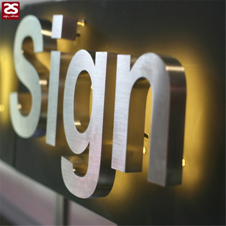 High Brightness Metal Alphabet Logo Stainless Steel
