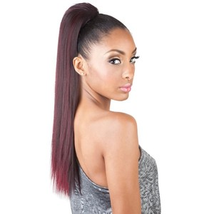 Cheap natural fiber synthetic ponytail for black woman