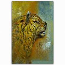 Wholesale wild animal tiger oil painting on canvas photo of tiger painting