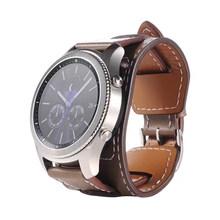 Модный Топ брендовый роскошный сменный Браслет из натуральной кожи для samsung gear S3 Frontier(Китай)