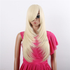 Wholesale long straight blonde hair wig high temperature fiber cosplay halloween wig