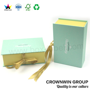 Luxury Custom Mailing Folding Paper Box With Ribbon CrownWin