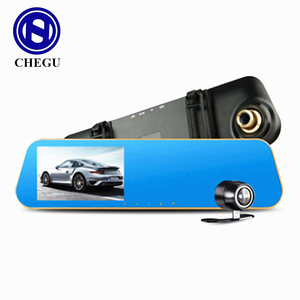DVR manufacturer 170 wide angle 1080P 4.3inch Car Rear view LCD Mirror monitor Dash cam 2 dual lens best hidden cameras for cars