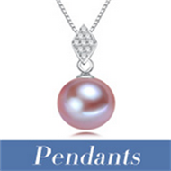 FEIRUN 11-12mm round AA+ white color pearl pendant jewelry, white pearl pendant, pearl pendant silver